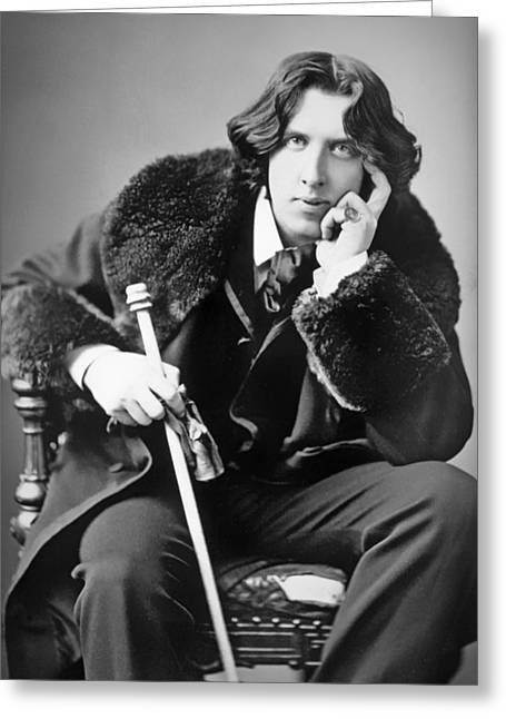 Oscar Wilde 1882 Greeting Card by Mountain Dreams