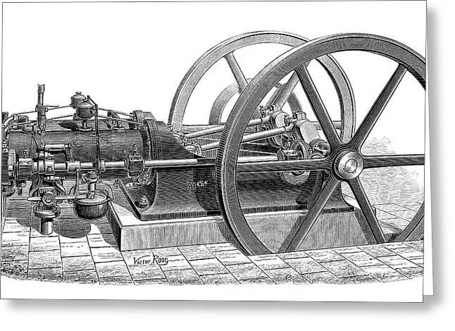Otto Gas Engine Greeting Card
