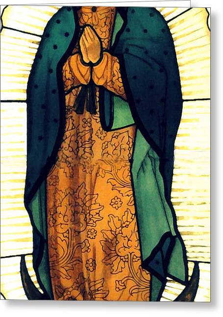 Our Lady Of Guadalupe Greeting Card by Patricia Januszkiewicz