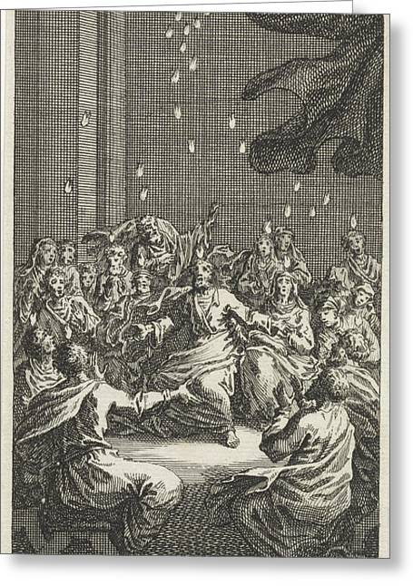 Outpouring Of The Holy Spirit, Jan Luyken Greeting Card