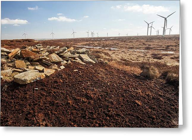 Ovenden Moor Wind Farm Greeting Card by Ashley Cooper