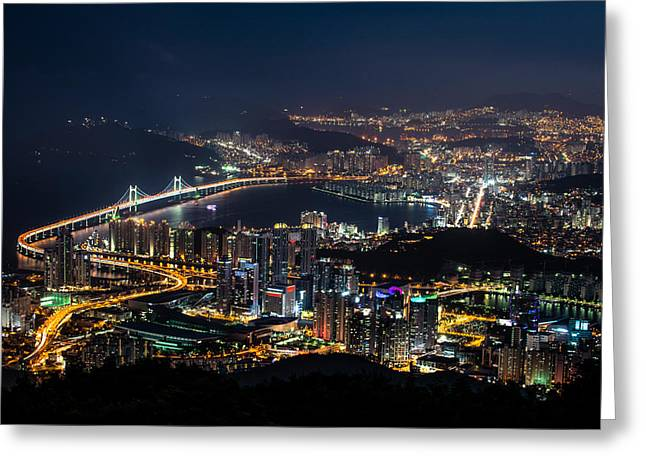 Over Looking Busan Greeting Card