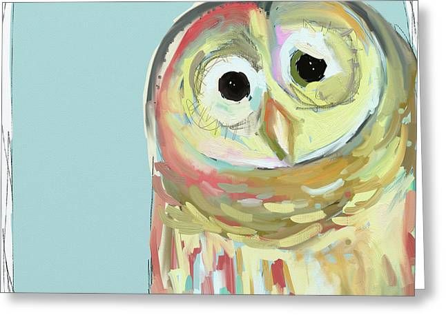 Owl 5 Greeting Card by Cathy Walters