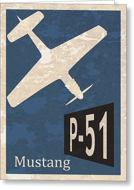 P-51 Mustang Greeting Card by Mark Rogan
