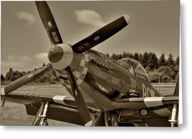 P-51 Mustang Speedball Alice Greeting Card