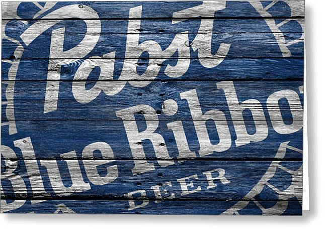 Pabst Blue Ribbon Greeting Card by Joe Hamilton