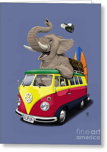 Pack The Trunk Colour Greeting Card