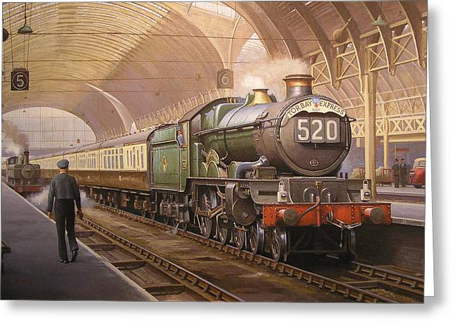 Paddington Arrival. Greeting Card by Mike  Jeffries