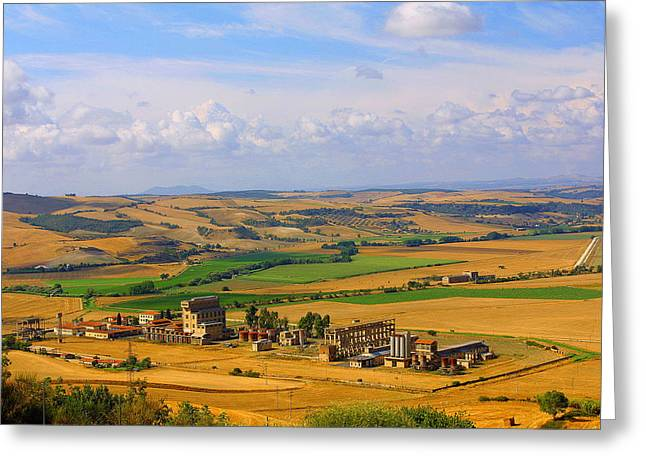 Landscape Tarquinian Former Oil Mill Greeting Card