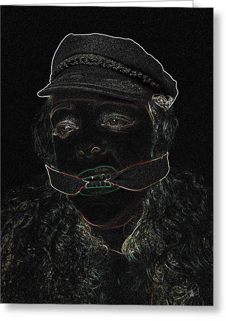 Pain Games In The Basement Greeting Card by Sir Josef - Social Critic - ART