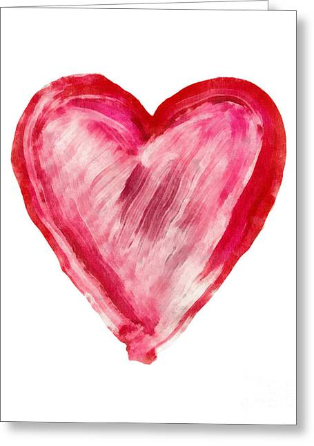Painted Heart - Symbol Of Love Greeting Card