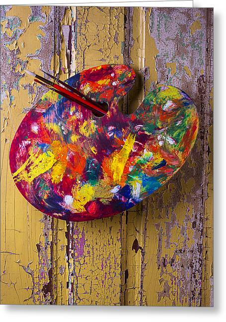 Painters Palette Greeting Card