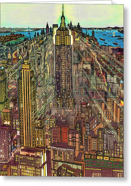 New York Mid Manhattan 1971 Greeting Card
