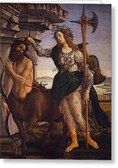 Pallas And The Centaur Greeting Card by Sandro Botticelli