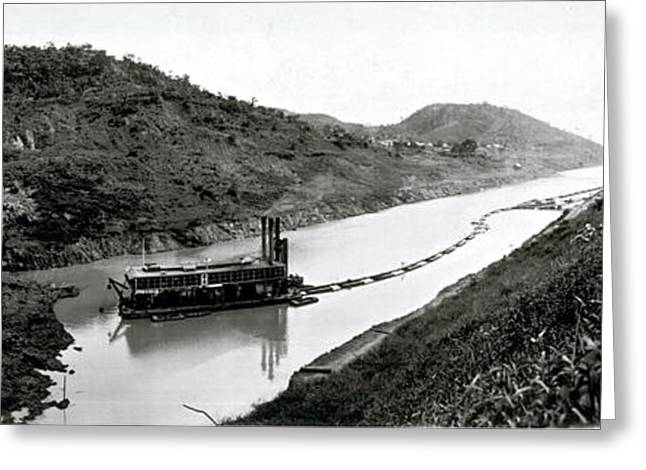 Panama Canal Construction, 1910 Greeting Card