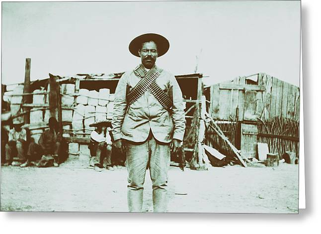 Pancho Villa 1910s Greeting Card by Mountain Dreams