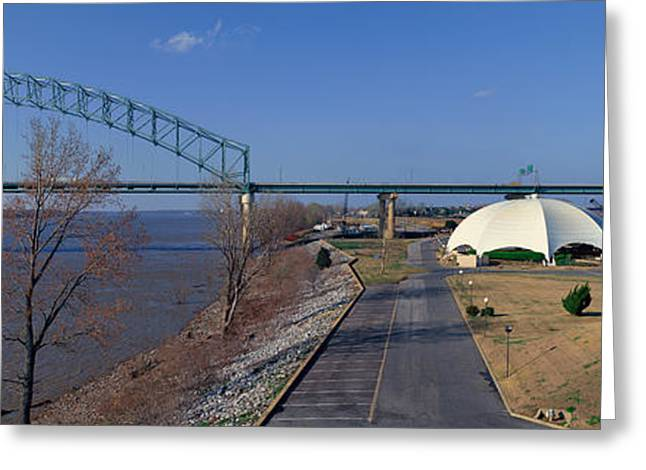 Panoramic View Of Mississippi River Greeting Card by Panoramic Images