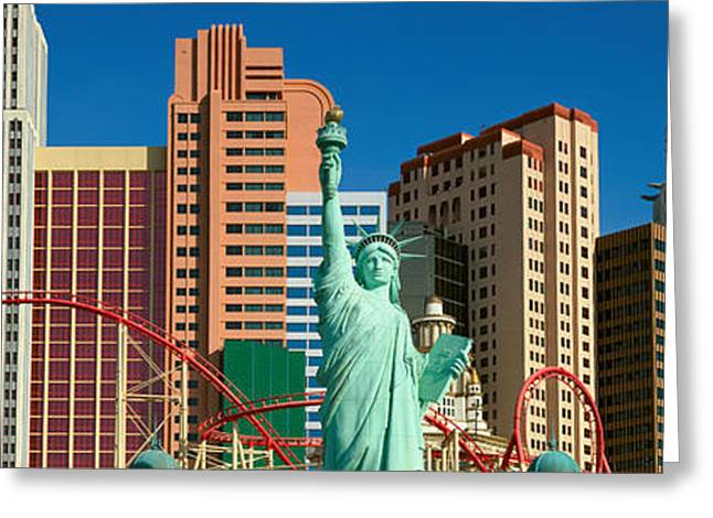 Panoramic View Of New York New York Greeting Card