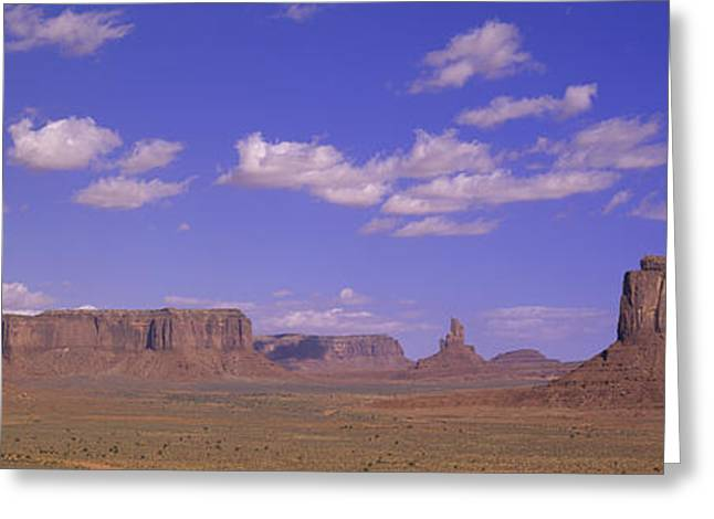 Panoramic View Of Red Buttes Greeting Card