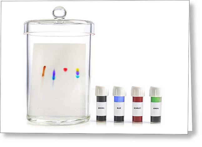 Paper Chromatography Greeting Card