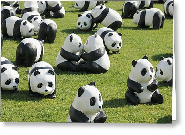 Paper Made Pandas From World Wildlife Greeting Card by Panoramic Images