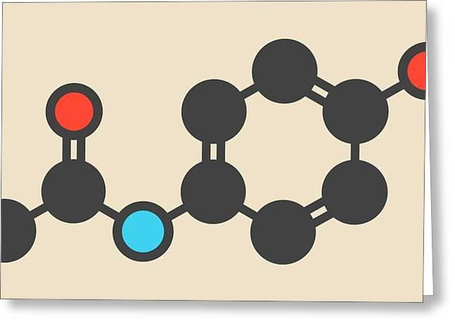 Paracetamol Molecule Greeting Card