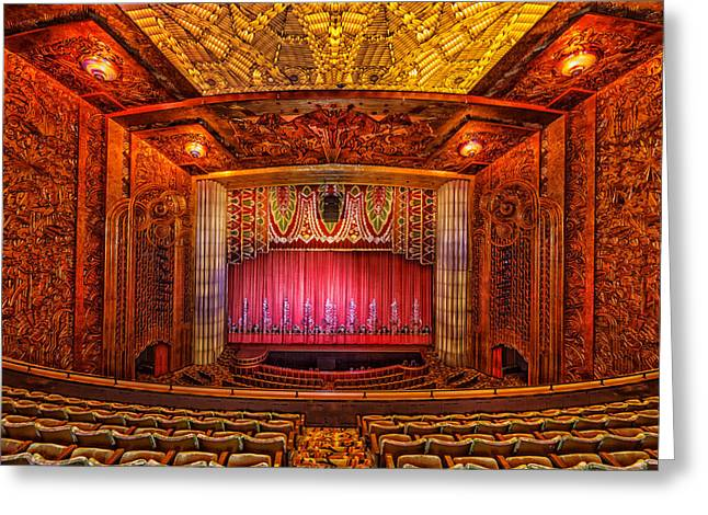 Paramount Theatre - Oakland California Greeting Card by Mountain Dreams