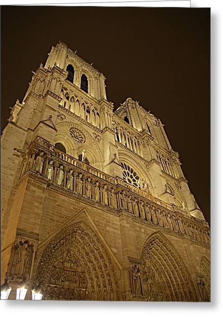 Paris France - Notre Dame De Paris - 011311 Greeting Card by DC Photographer