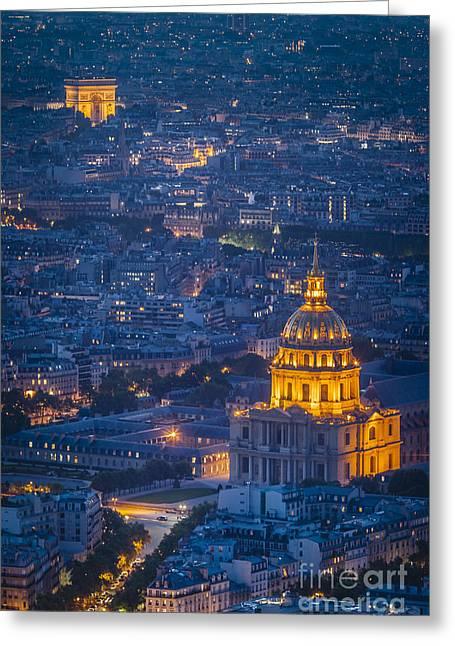 Paris Overhead Greeting Card