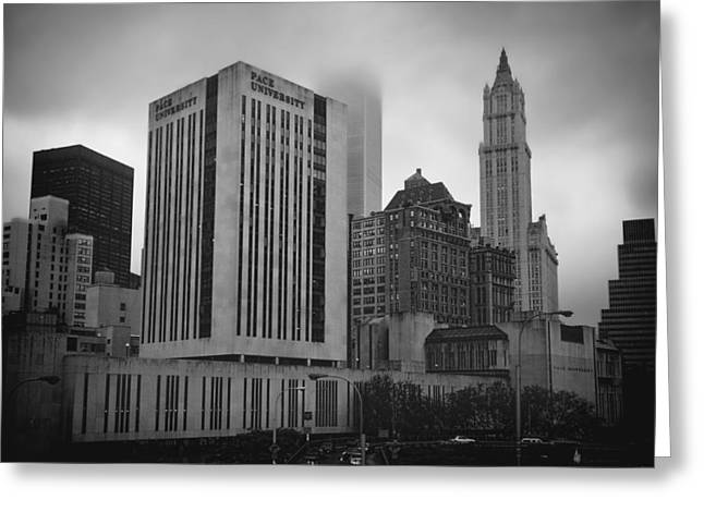 Greeting Card featuring the photograph 1  Park Plaza And The Woolworth by Joann Vitali