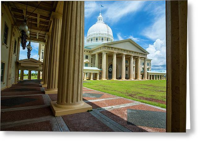 Parliament Building Of Palau Greeting Card by Michael Runkel