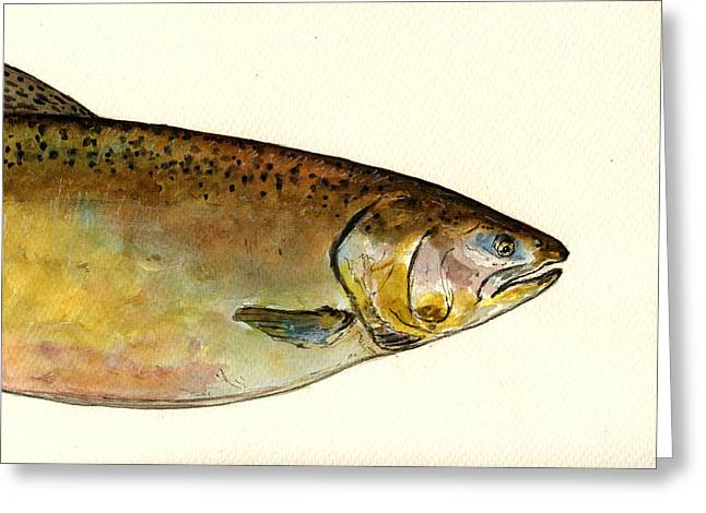 1 Part Chinook King Salmon Greeting Card