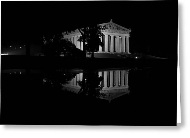 Parthenon Puddle Greeting Card