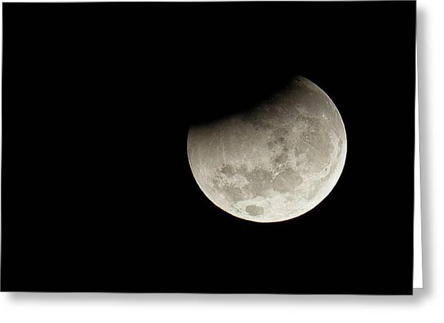 Partial Lunar Eclipse Greeting Card by Luis Argerich