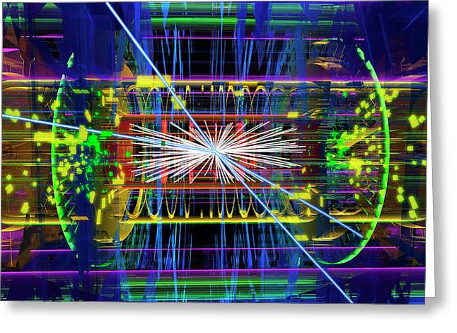 Particle Collision Event Greeting Card by Cern
