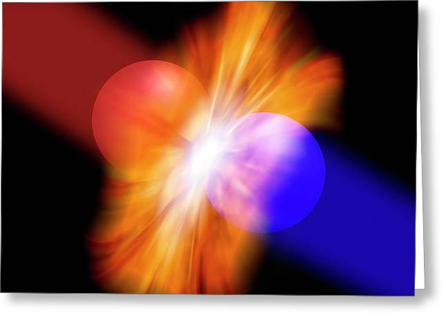 Particles Colliding Greeting Card by Victor De Schwanberg
