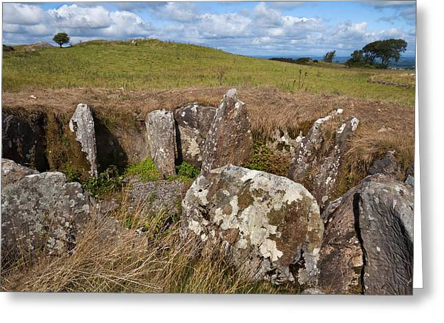 Passage Grave,carbane West, Loughcrew Greeting Card by Panoramic Images