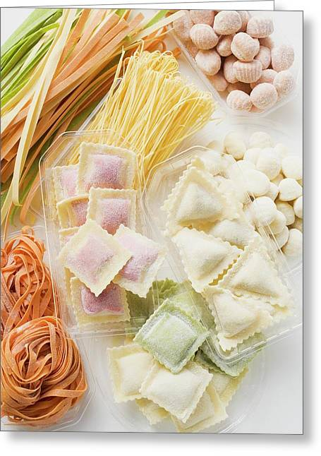 Pasta Still Life With Gnocchi Greeting Card