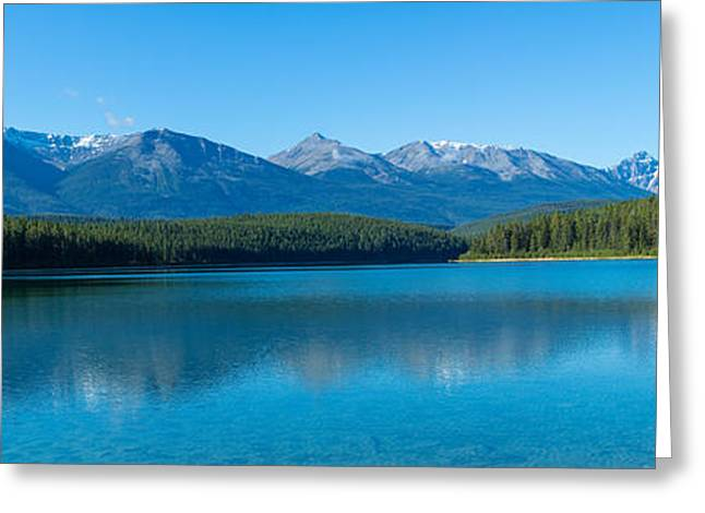 Patricia Lake With Mountains Greeting Card
