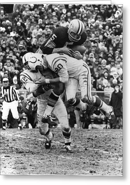 Paul Hornung Poster Greeting Card by Gianfranco Weiss