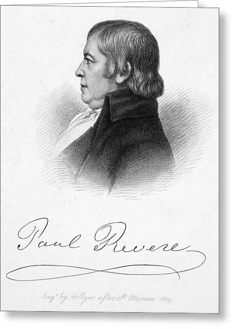 Paul Revere (1735-1818) Greeting Card by Granger