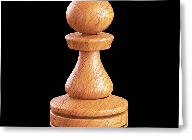 Pawn Chess Piece Greeting Card by Ktsdesign
