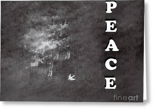 Peace Greeting Card by Trilby Cole