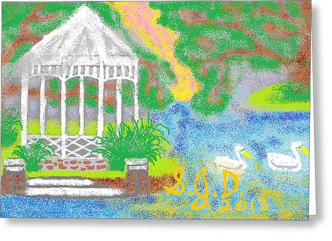 Peaceful Place Greeting Card by Joe Dillon