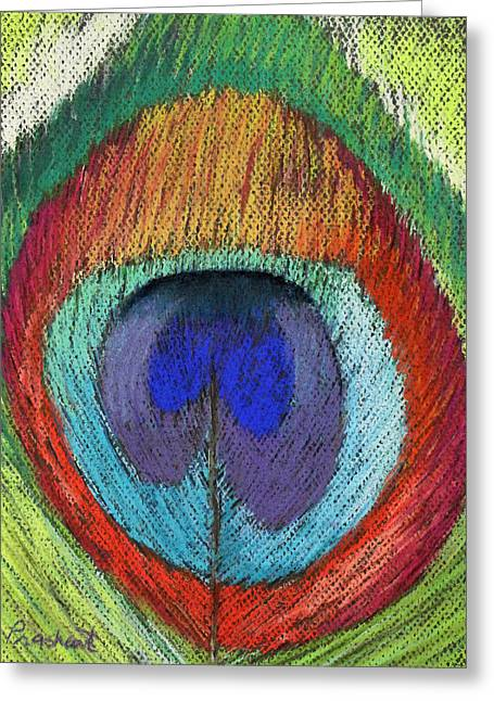 Peacock Feather  Greeting Card by Prashant Shah
