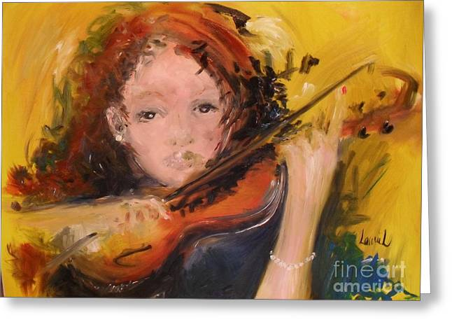 Greeting Card featuring the painting Pearl by Laurie Lundquist