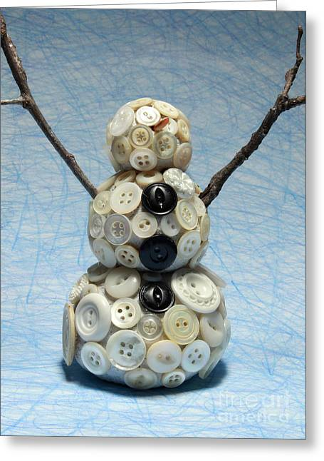 Pearly Snowman Christmas Card Greeting Card