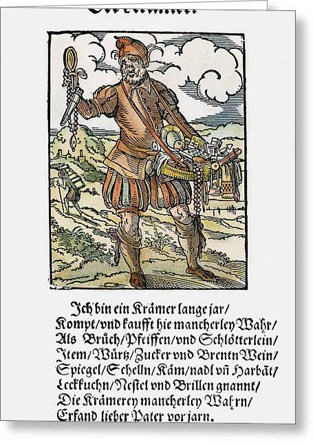 Peddler, 1568 Greeting Card by Granger