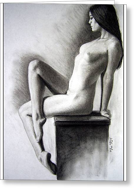 Greeting Card featuring the drawing Pedestal  by Joseph Ogle