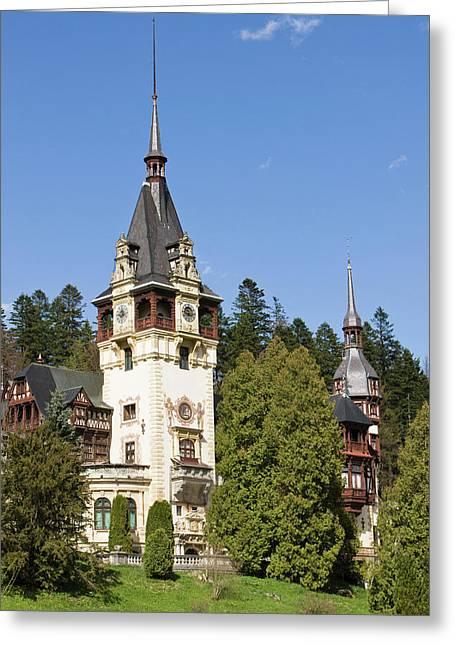 Peles Castle, Sinaia, Carpathian Greeting Card
